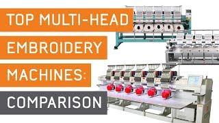 Best Commercial Embroidery Machine Comparison | Multi-head: Ricoma vs Tajima vs SWF Spec. Comparison