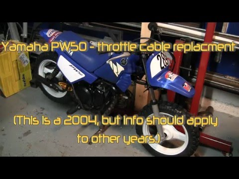 Yamaha PW50 throttle cable replacement