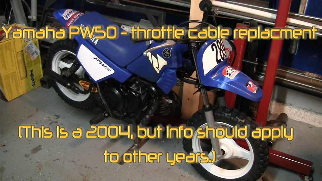 Yamaha PW50 throttle cable replacement  YouTube