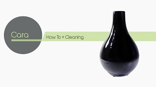 Cara - Stylus Black Porcelain Aromatherapy Diffuser - Use your favorite essential oil.