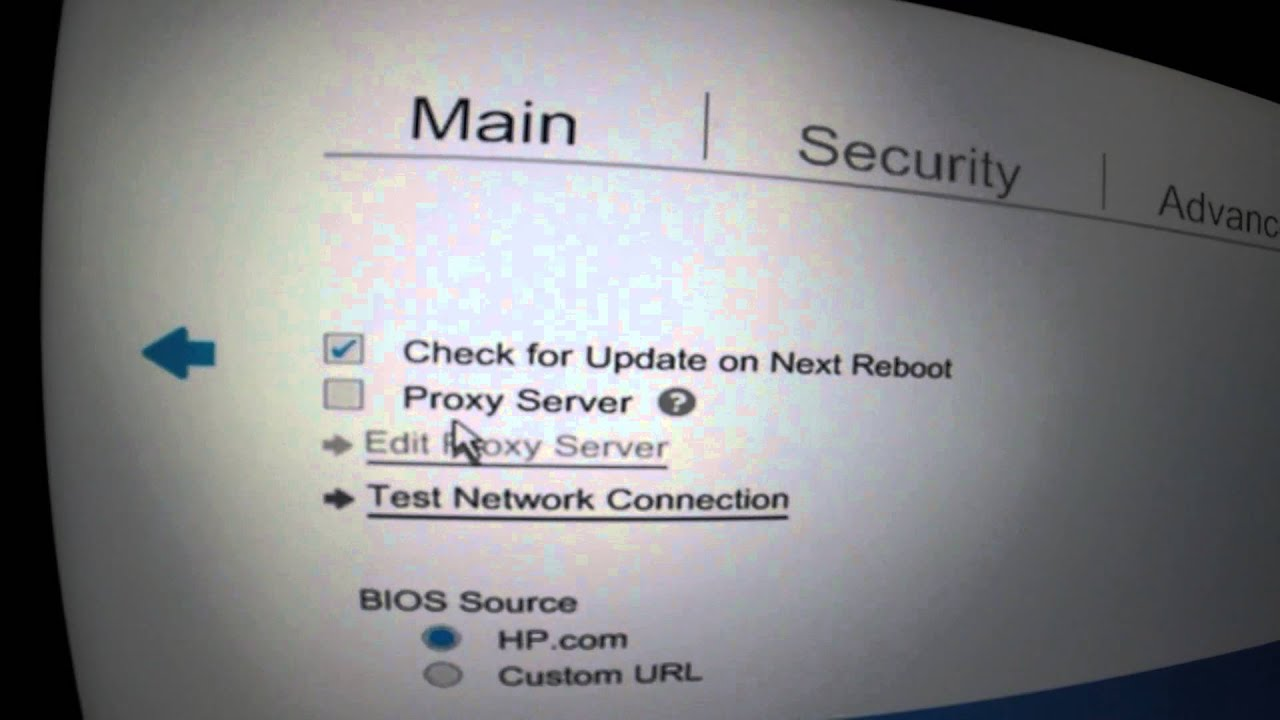 HP Automatic BIOS update with HP Commercial computers