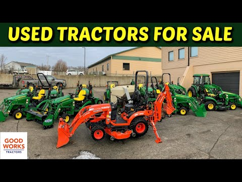 Used John Deere Tractors For Sale! 1025r 2025r 2032r 3520 4044m 4066r Kubota BX23s 1026r 4052r