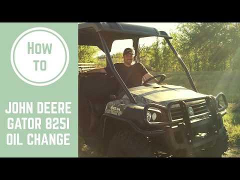 How To Change The Oil On A John Deere Gator 825i YouTube