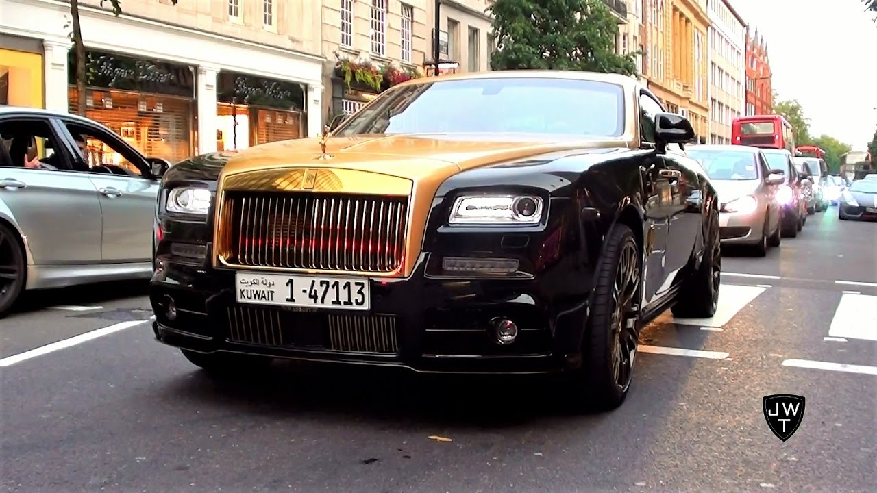 Black Gold Mansory Rolls Royce Wraith Driving Around London