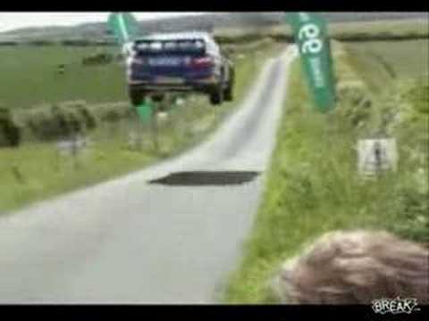 136 mph Rally Car Jump