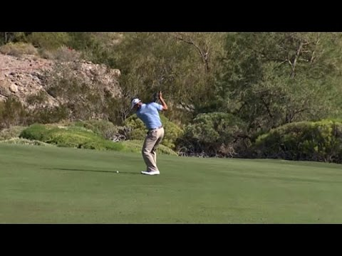 Shawn Stefani's superb eagle hole out at Shriners