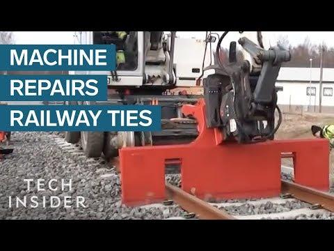 Machine Replaces Railway Track Ties