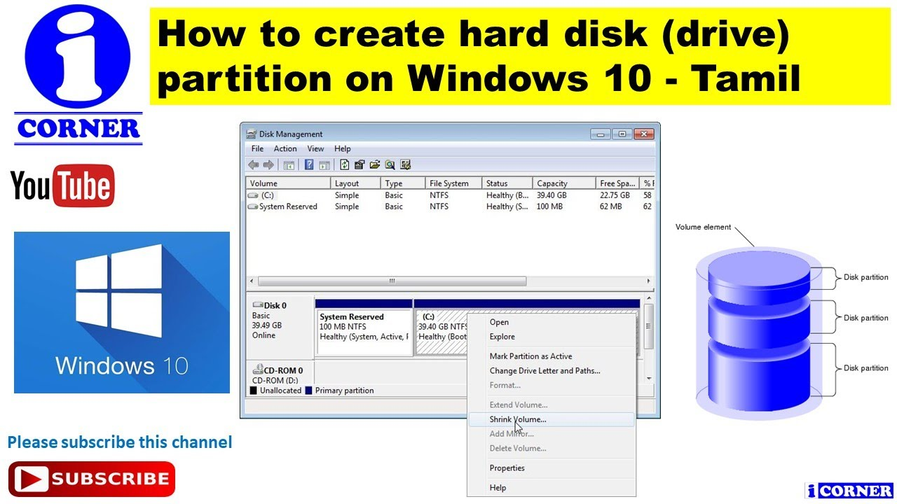 how to partition hard disk drive in windows 8.1