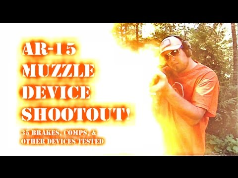AR-15 Muzzle Brake Shootout! 35 muzzle devices tested...