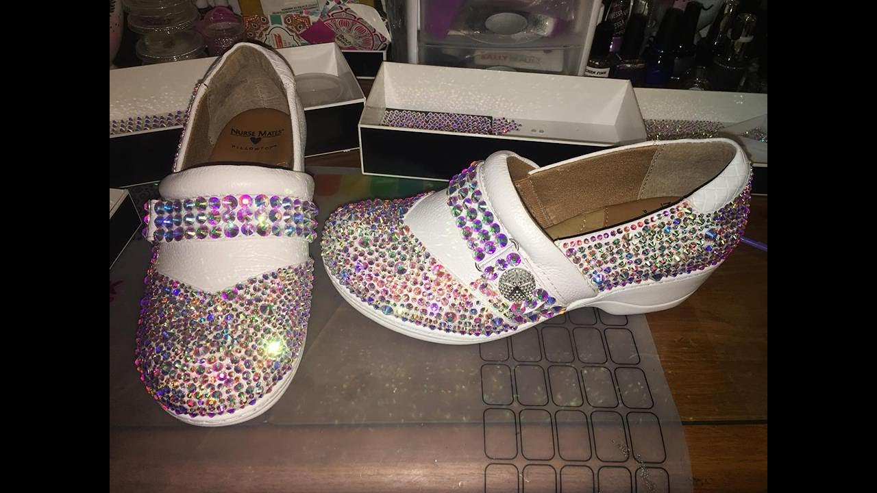 c355f1e3939c Nurse Mates DIY Designer Swarovski Crystal Shoes Louboutin Inspired shoes