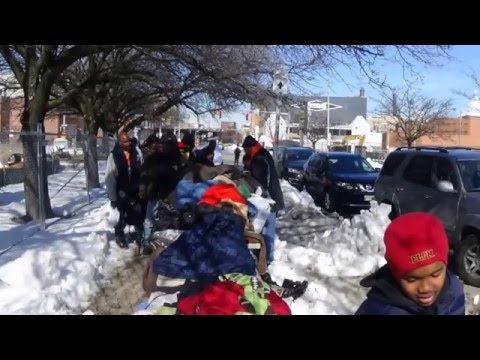 1/30/16 Homeless Outreach - Baltimore (post blizzard edition)