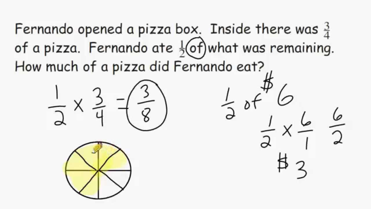 hight resolution of Fraction Multiplication - Word Problems - YouTube