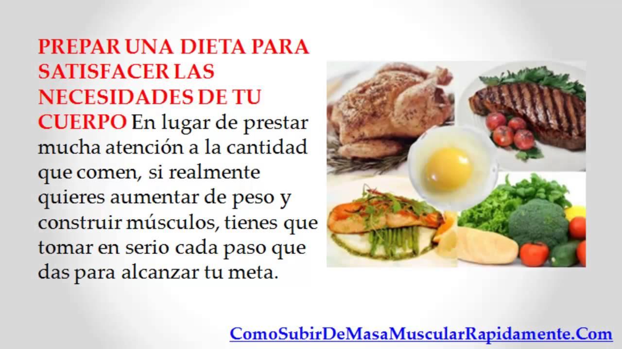 que comer para aumentar de peso