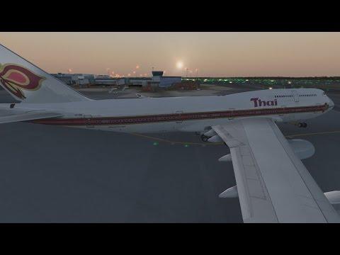 FSX | Thai Airways Stockholm (ESSA) to Bangkok (VTBS) | 747-400