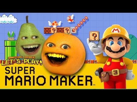 Annoying Orange and Pear Plays – Super Mario Maker: THUNDERWEAR!