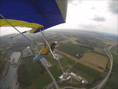 Hang Gliding at Pleasant Gap PA 7 Aug 2014 Will