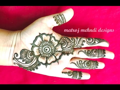 Easy Simple Mehndi Henna Designs For Hands For Begineers Youtube