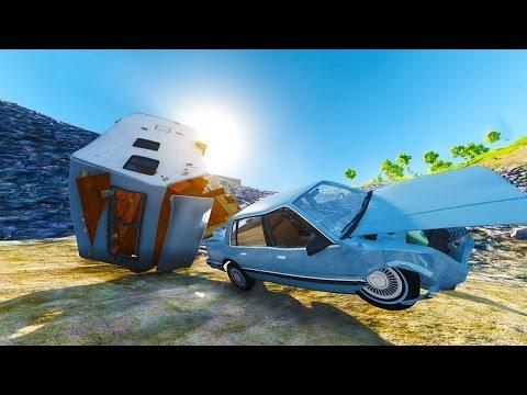 SO MANY WAYS TO CRASH! - BeamNG Drive Crash Mountain Map Mod