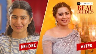 Indian Bridal Makeover For Sangeet | Sangeet Look Makeup Transformation | Real Brides | Be Beautiful