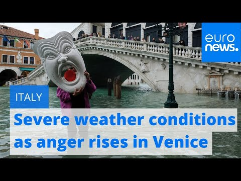 Italy Suffers Severe Weather Conditions As Anger Rises In Flood-damaged Venice