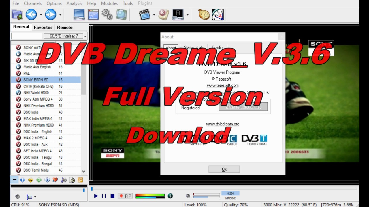 dvb dream full version free download