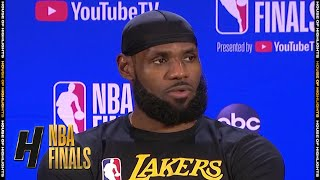 LeBron James Postgame Interview - Game 5 | Heat vs Lakers | October 9, 2020 NBA Finals