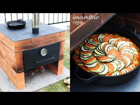 (SUB)🔥🥘벽돌오븐(철판Ver.)|오븐+화덕철판 2in1|Making a