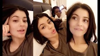 Kylie Jenner In Bed Answering Questions (FULL SNAPCHATS )
