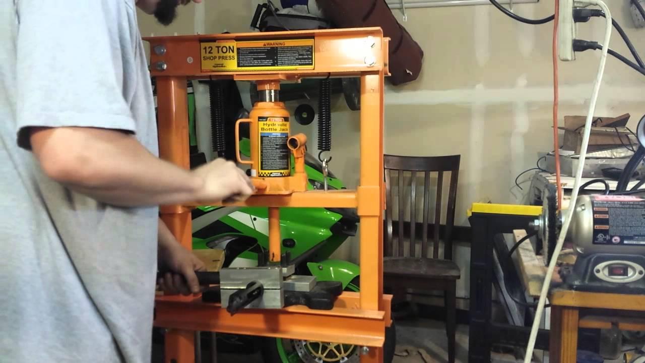shop press as a barrel vise youtube