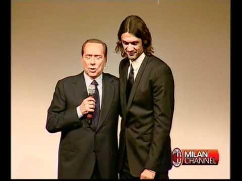Premiazioni alla festa dei 25 anni di Berlusconi al Milan