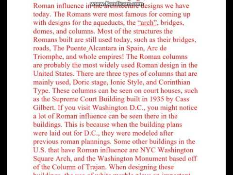 Roman Influence on Soceity