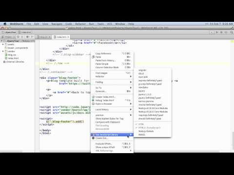 jQuery Tips - WebStorm Video Tutorial