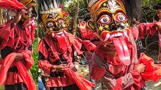 FALK DANCE AT TRIMOHINI, DAKHIN DINAJPUR    DAPOT KALI PUJA DANCE   