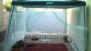 Тент с москитной сеткой на молнии (летняя палатка)