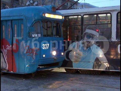 В центре Хабаровска произошло лобовое столкновение двух трамваев. MestoproTV