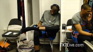 LEBRON JAMES RARE LOCKER ROOM FOOTAGE - 2012 NBA FINALS GAME 5 - PRE GAME ROUTINE