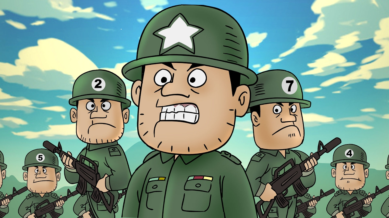 Kartun Lucu  Funny Army  Funny Cartoon  YouTube
