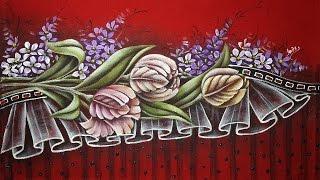 Tulipas – Parte 2 – Pintura em tecido