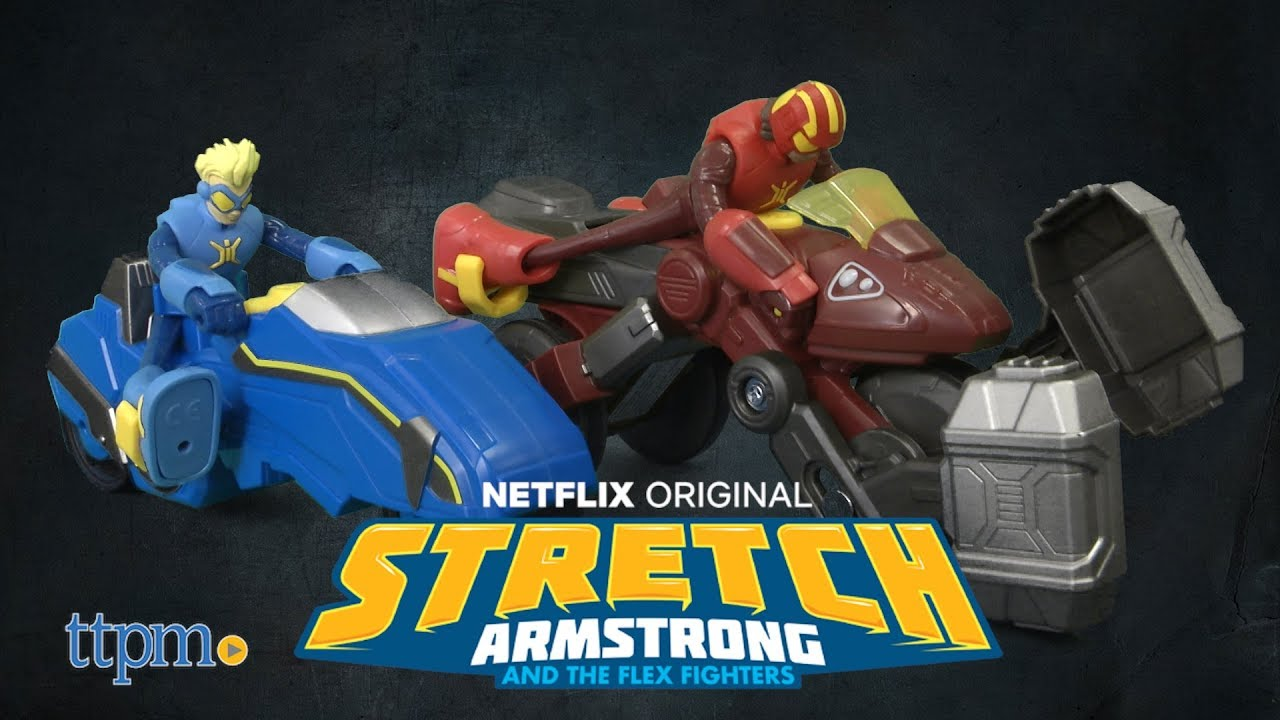 Omni-Mass Smashcycle Stretch Armstong /& The Flex Fighters Action Figure /& Cycle