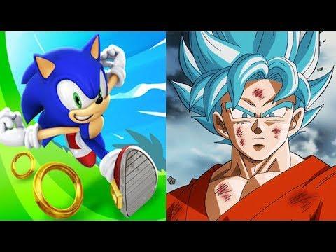 Sonic Dash Vs Goku Dragon Ball Z