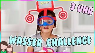Mache NIEMALS UM 3 UHR NACHTS EINE WASSER CHALLENGE 👻 Unheimliche Dunk Hat Challenge at 3AM SCARY