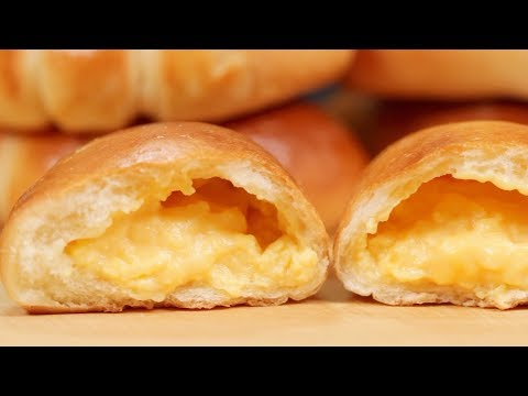 The Best Cream Pan with Custard Filling Recipe (Japanese Sweet Buns with Pastry Cream)