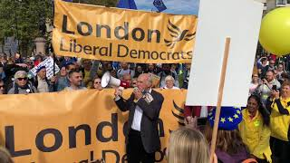 Vince Cable at #PeoplesVoteMarch