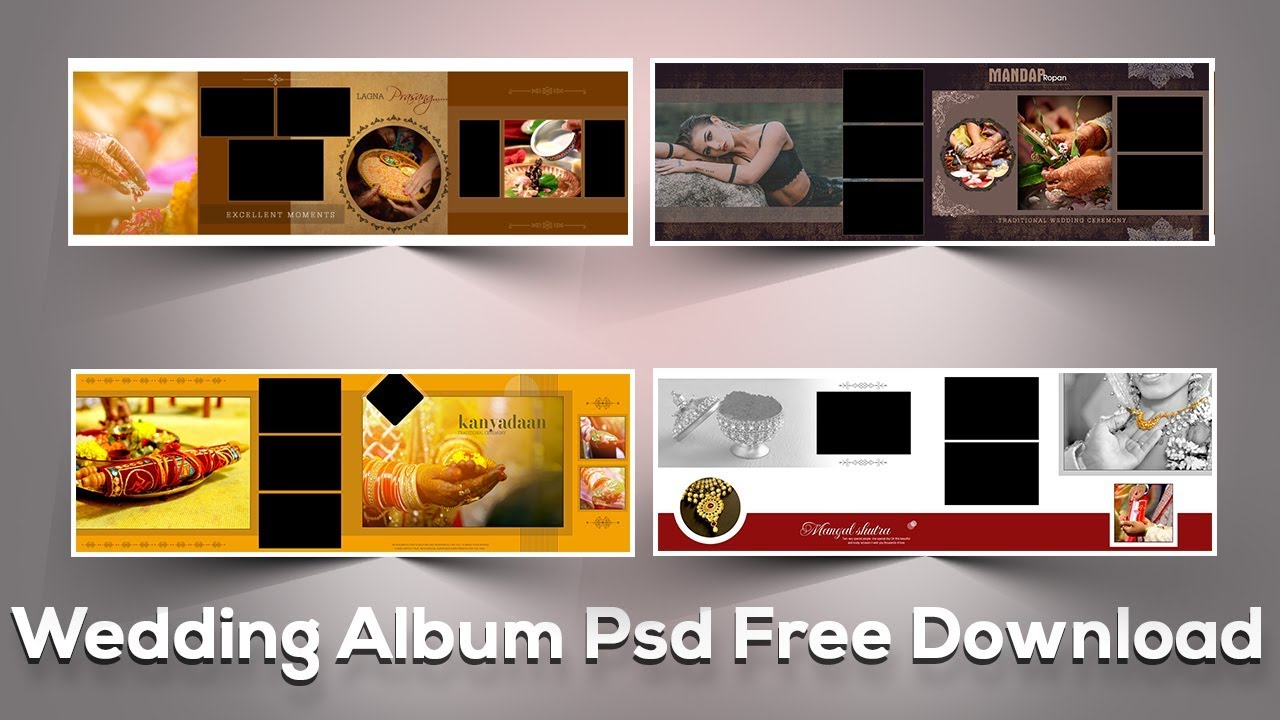 Free Psd File Download Wedding Album Templates Vol 19