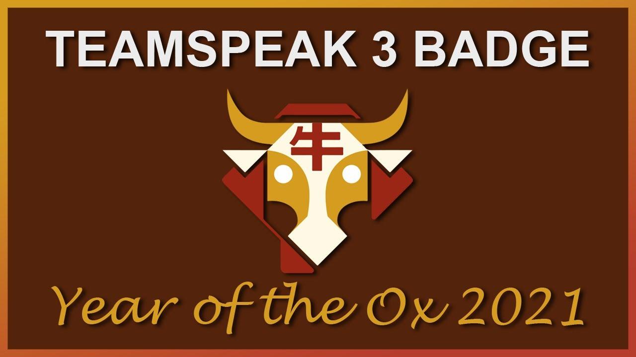 Year of the Ox 15   Teamspeak 15 Badge Code NEW