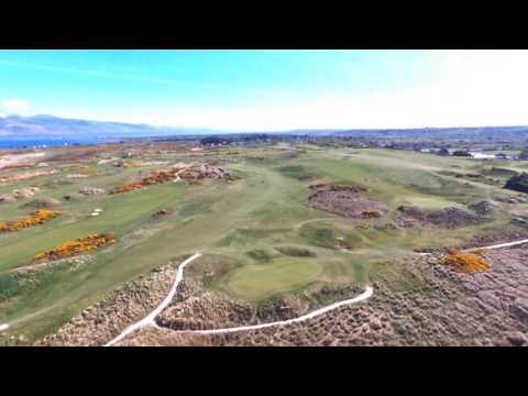 Dooks Golf Course Kerry Ireland drone Footage 2017 Amazing atlantic coastline