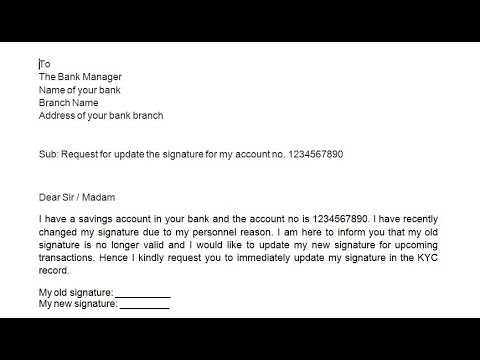 How to write application to bank manager to change the signature how to write application to bank manager to change the signature simplified in hindi spiritdancerdesigns Images