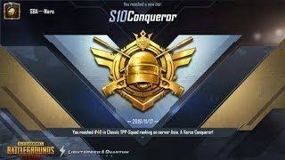 CONQUEROR | Late push but i got it