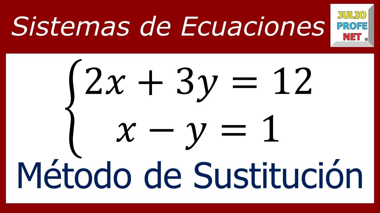 Sistema De Ecuaciones Lineales 2 2 Por Método De Sustitución Ejercicio 1 Youtube
