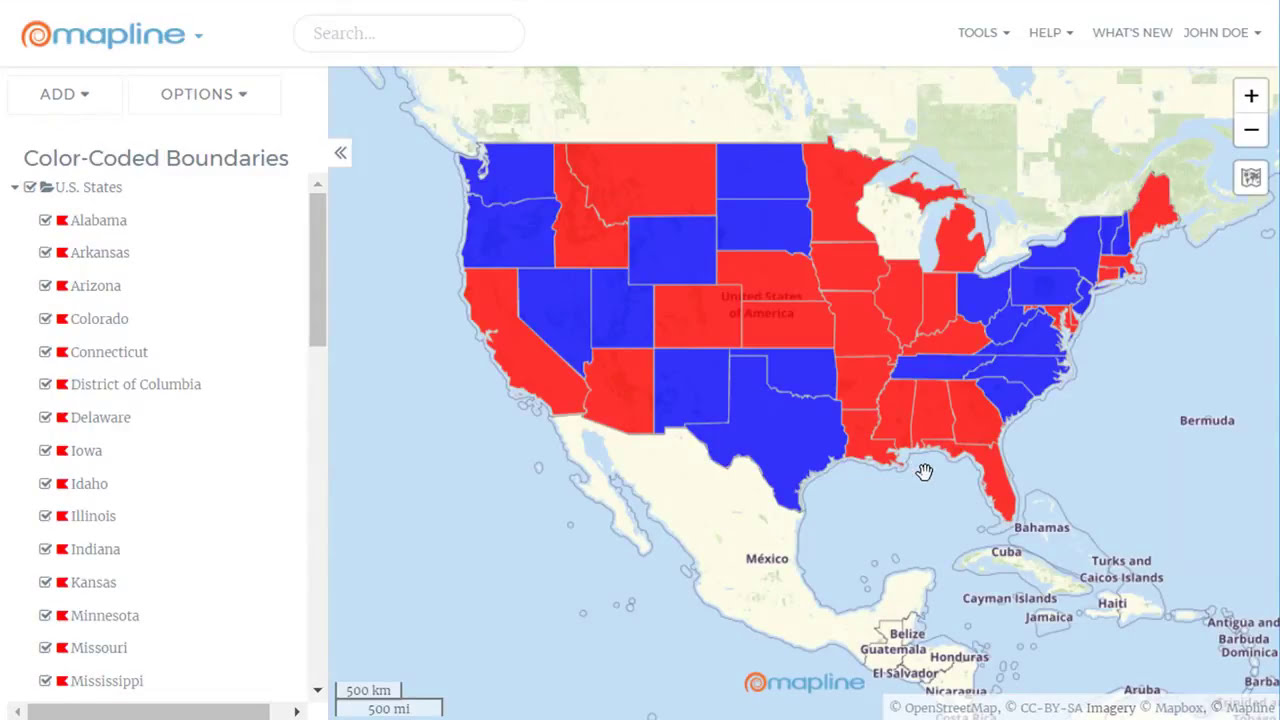 How to Create a Color-Coded Map - Make a Territory Map with ...